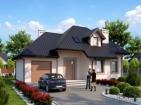 Проект стильного удобного дома с цоколем и гаражом